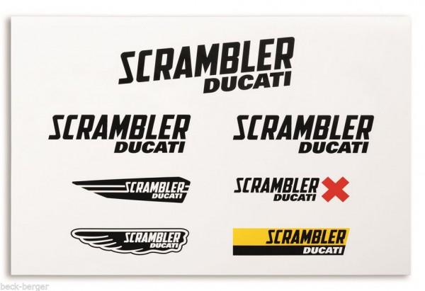 """DUCATI Scrambler """"Logos"""" Aufkleberset"""