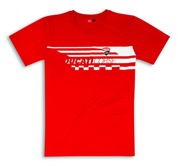 DUCATI Red Check T-Shirt